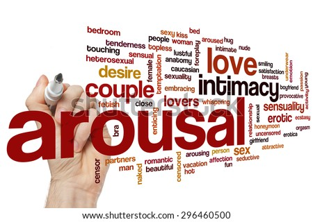 Arousal word cloud concept - stock photo