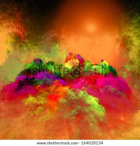 Arrangement of lights, fractal flames and abstract elemen?t Fractal flames and abstract elements�  - stock photo