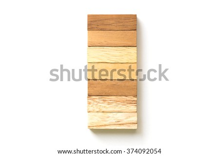 Arranging wood block stacking . Business concept for growth success process.