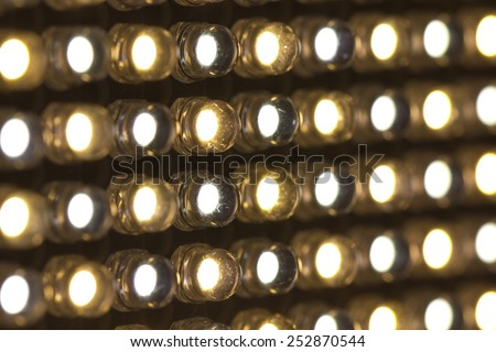 Array of LED lights with variable color temperature  - stock photo