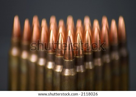 Array of 5.56 NATO rounds
