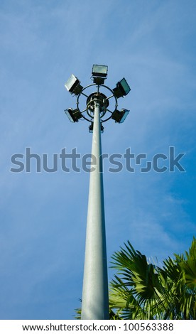 array spotlight tower - stock photo
