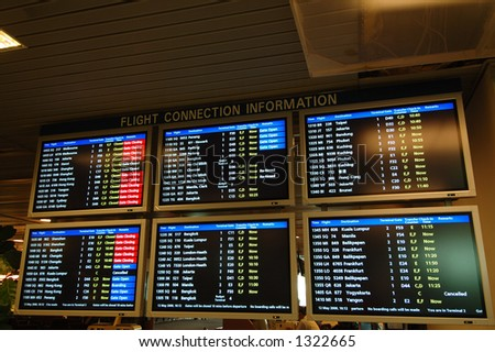 Arrival and Departure - stock photo