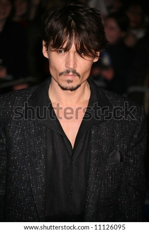 Arrivals at the European Premiere of 'Sweeney Todd' at the Odeon Leicester Square on January 10, 2008 in London, England. Johnny Depp