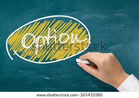 Arrow, banner, blackboard. - stock photo