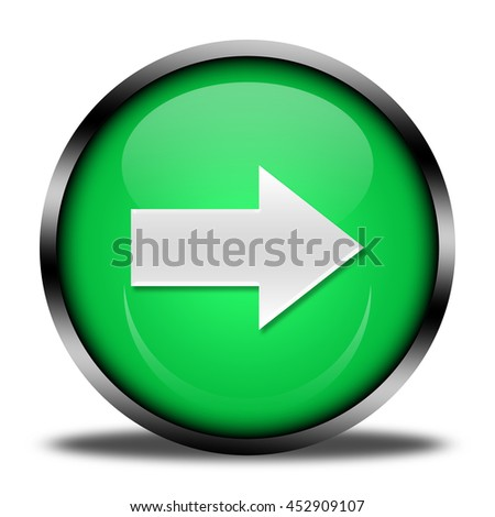 arrow button isolated. 3D illustration