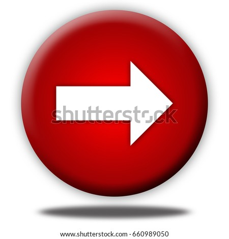 arrow button isolated, 3d illustration
