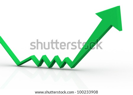 Arrow Graph - stock photo