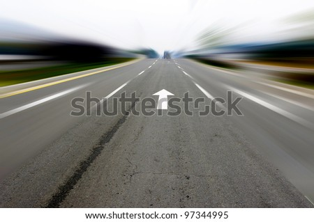 Arrow Highway - stock photo