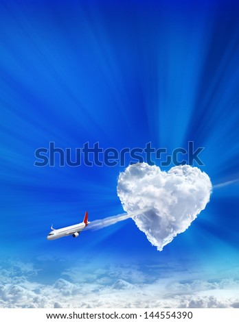 Arrow of the cupid on Valentine's day - stock photo