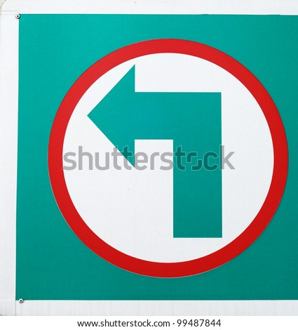 arrow on label - stock photo