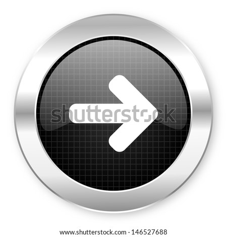 arrow right icon  - stock photo