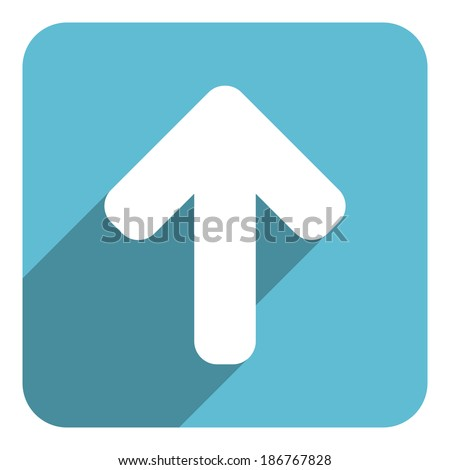 arrow up icon - stock photo