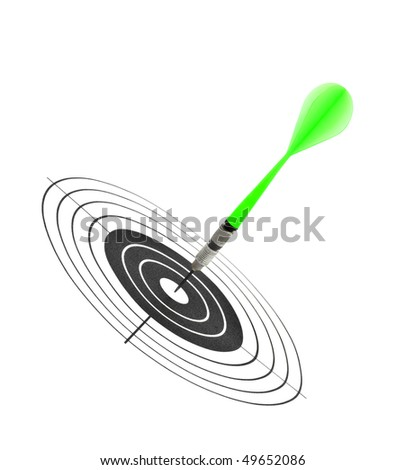 Arrows darts and target isolated on white background