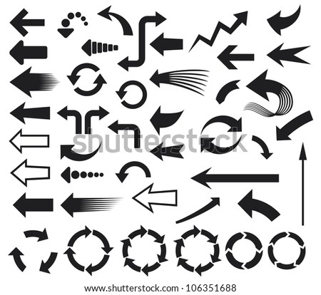 arrows icons (arrows icons set) - stock photo