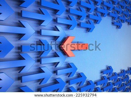 Arrows in different directions - stock photo