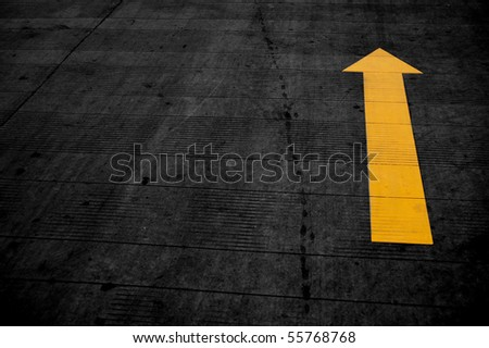 Arrows, the road - stock photo