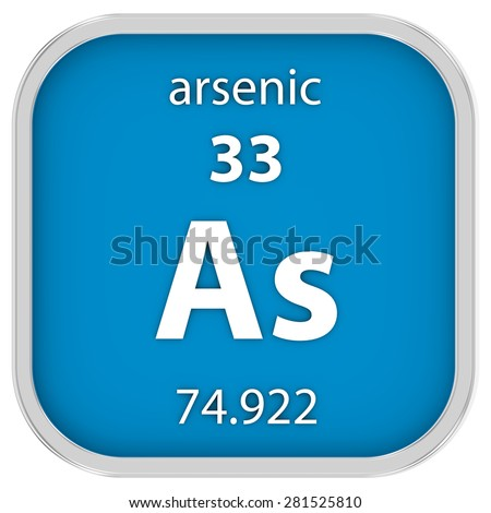 Arsenic material on the periodic table. Part of a series.