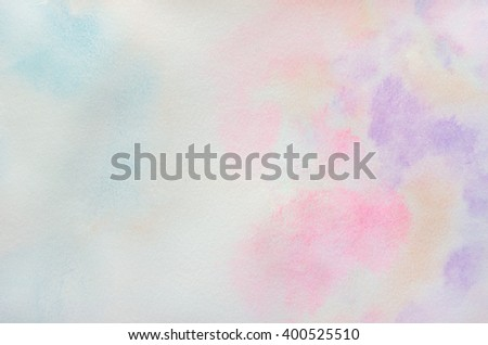 Art Abstract background - Pastel of water color paint on white paper - stock photo