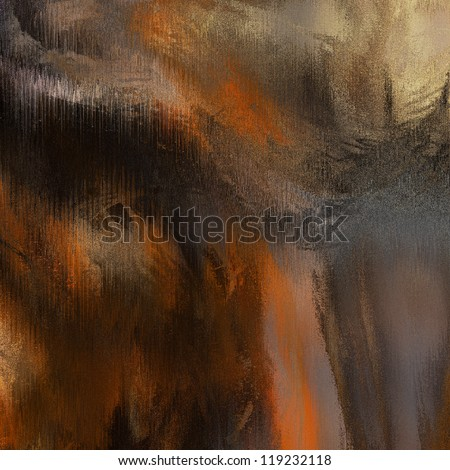art abstract chaos grunge textured colorful background in brown, orange, black, grey and gold beige colors - stock photo