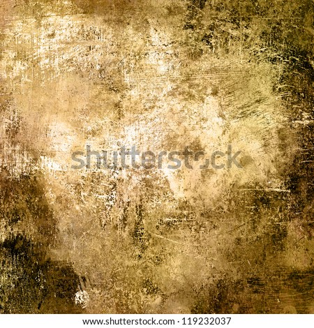 art abstract chaos grunge textured monochrome beige background with brown blots