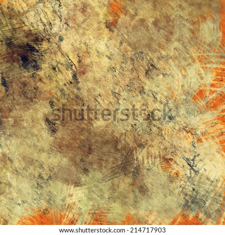 art abstract colorful acrylic and pencil background in beige, grey and orange colors