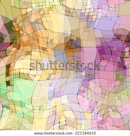 art abstract colorful chaotic waves seamless pattern, transparency  background in beige, blue, lilac and violet colors - stock photo