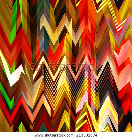 art abstract colorful zigzag geometric vertical seamless pattern background in rainbow colors - stock photo
