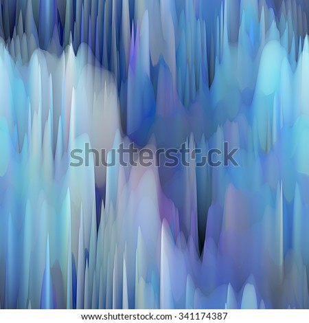 art abstract fractal wave monochrome blurred background in blue, grey, black and white colors; seamless pattern; 3d effect