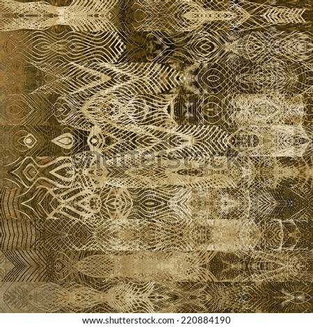art abstract geometric horizontal stripes pattern, lace monochrome background in beige, white and brown colors; vertical seamless ornament - stock photo