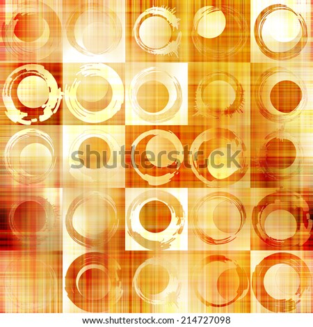 art abstract geometric textured colorful background with circles in gold, orange, white  and red colors  - stock photo