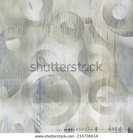 art abstract geometric textured monochrome background with circles in light grey and white colors  - stock photo