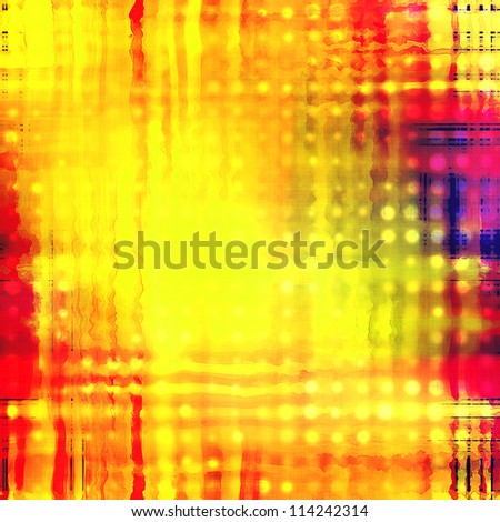 art abstract golden geometric pattern, background with red and violet blots