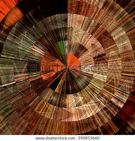art abstract graphic spherical grunge colored background in brown, old gold, orange and red colors; geometric pattern - stock photo