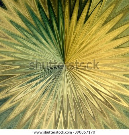 art abstract graphic spherical monochrome blurred background in beige, old gold, green and brown colors; geometric pattern - stock photo