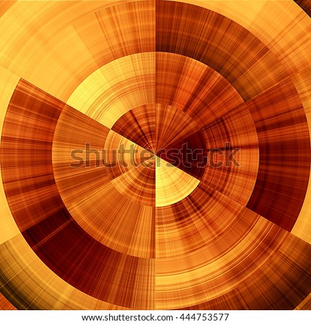 art abstract graphic spherical monochrome blurred background in orange, red, gold and brown colors; geometric pattern