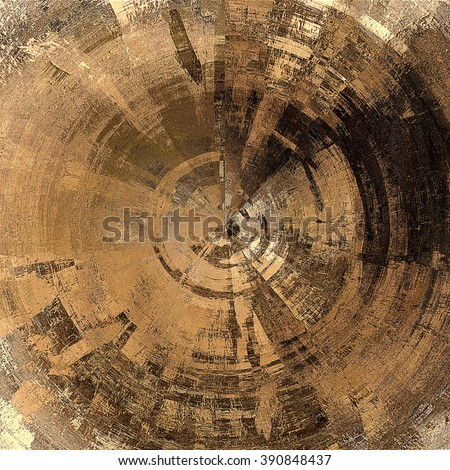 art abstract graphic spherical monochrome grunge background in brown, beige, old gold and black colors; geometric pattern