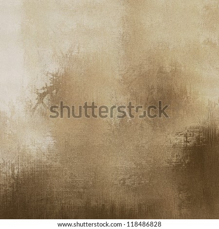 art abstract grunge dust textured, beige and brown monochrome background - stock photo