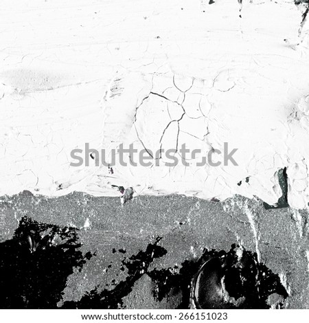 Art abstract grunge silver background illustration. Fragment of an original painting. Oil and on canvas