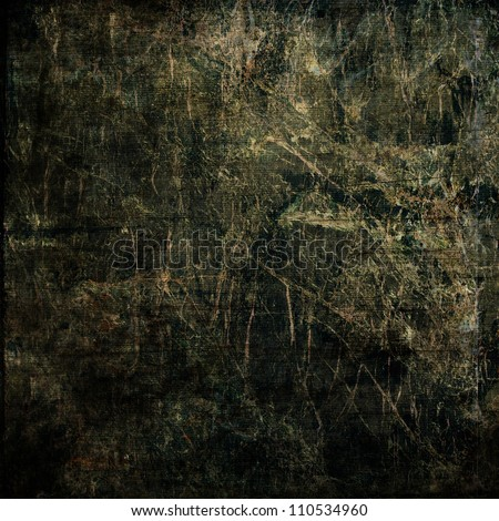 art abstract grunge textured black background - stock photo