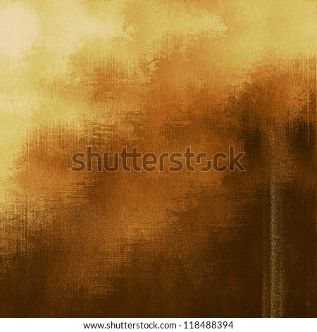 art abstract grunge textured old gold background with beige, orange, yellow and brown blots - stock photo