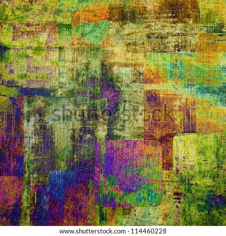 art abstract  grunge vintage rainbow background - stock photo