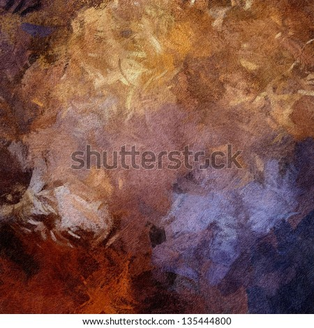 art abstract painted textured background in brown, beige, gold, orange and violet colors - stock photo
