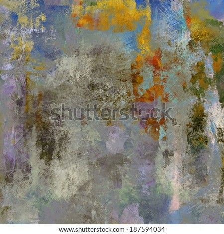art abstract watercolor background in green, grey, yellow, violet and blue colors - stock photo
