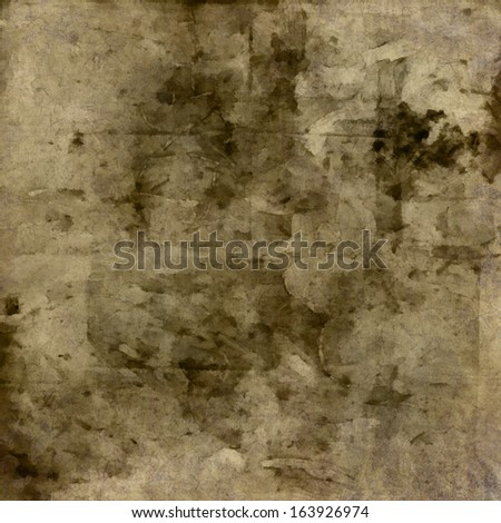 art abstract watercolor sepia background with grey and black blots - stock photo