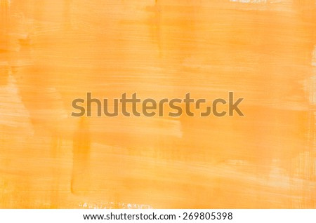 art abstract yellow painted texture - stock photo