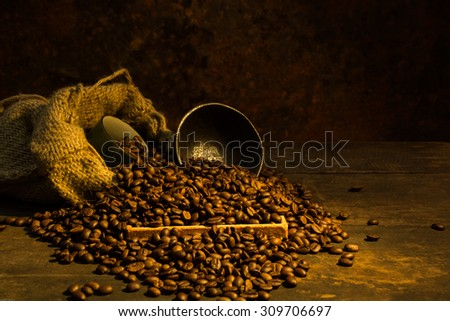 Art and coffee beans