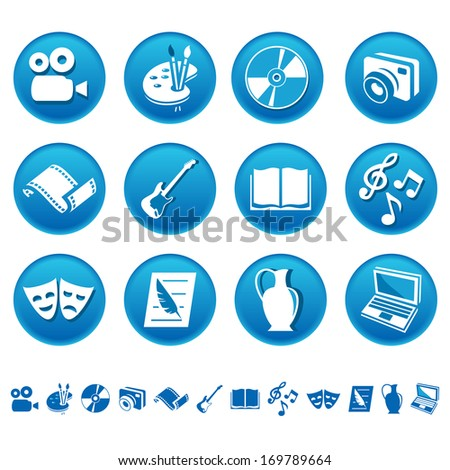 Art and hobby icons. Raster version of EPS image 27659611 - stock photo