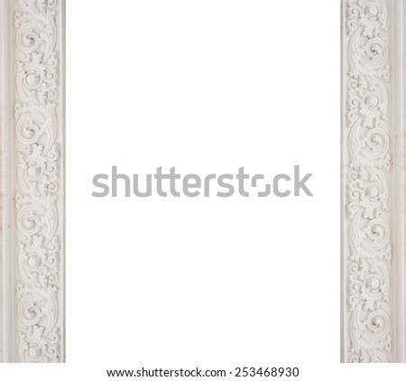art architectural white frame molding. - stock photo