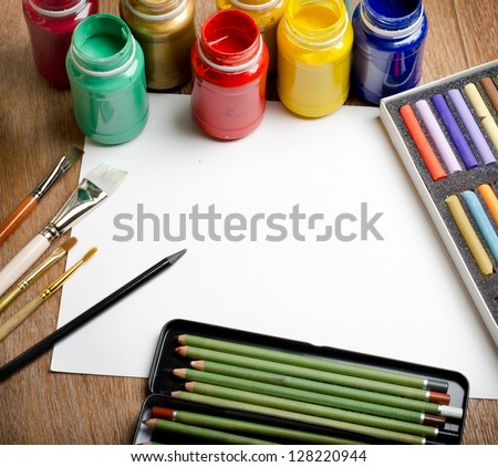art background - stock photo